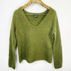 ALEXANDRA BARTLETT Mohair V Neck Sweater